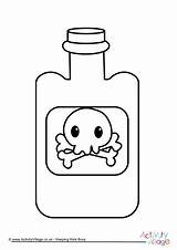 Colouring Poison Bottle Become Member Log Halloween sketch template