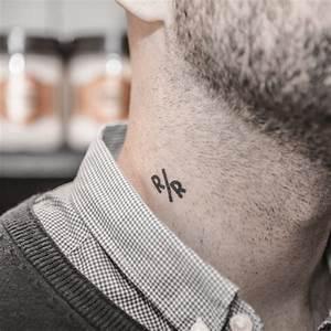 Tatouage Cou Homme : 1001 id es le tatouage ph m re satisfait ou effac ~ Nature-et-papiers.com Idées de Décoration
