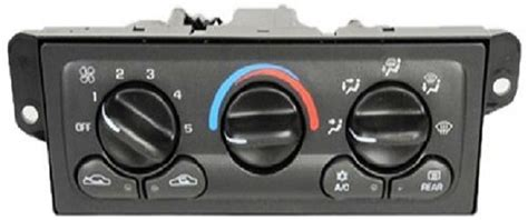 heating  air conditioning control panel symptoms