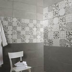 carrelage mural tadelak premium en faience gris 25 x 75 With peinture sur carrelage mural