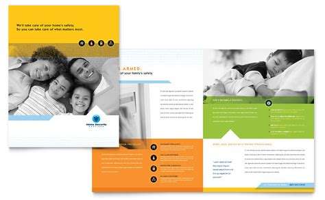 home security systems brochure template word publisher