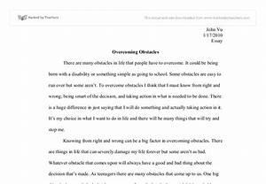 sample essay overcoming challenges