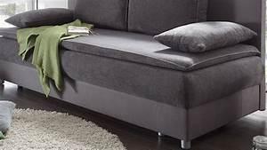 Couch Mit Bettkasten : schlafsofa svenja sofa in grau dauerschl fer mit bettkasten ~ Markanthonyermac.com Haus und Dekorationen