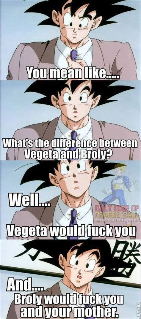 Broly Meme - vegeta and broly comparison dragon ball know your meme