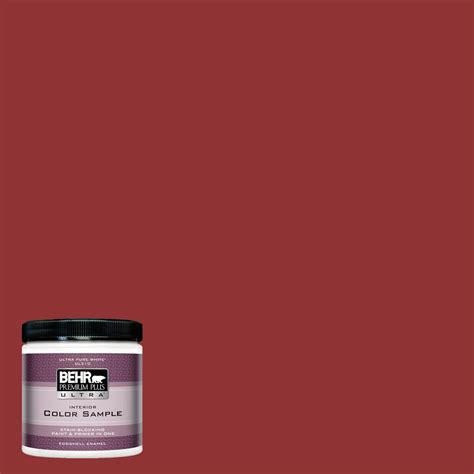 red paint colors behr behr premium plus ultra 8 oz s h 180 awning red eggshell
