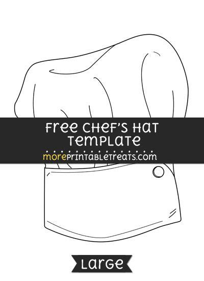 chefs hat template large