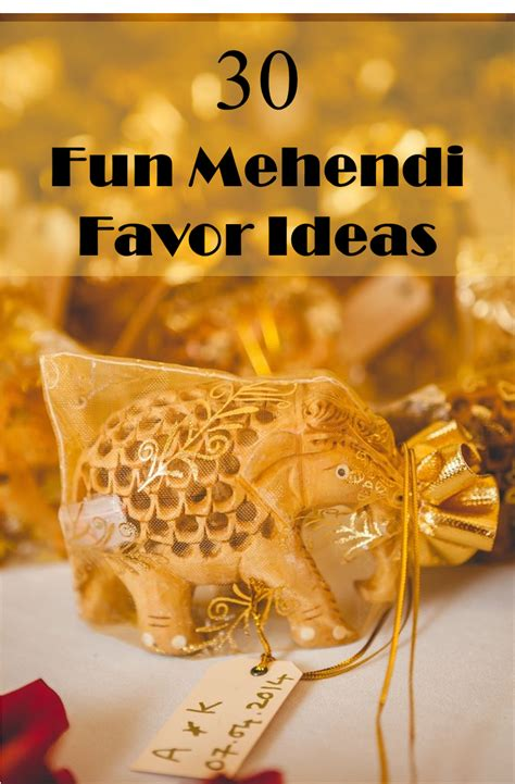 ideas for 30 fun mehendi favor ideas for your ceremony frugal2fab