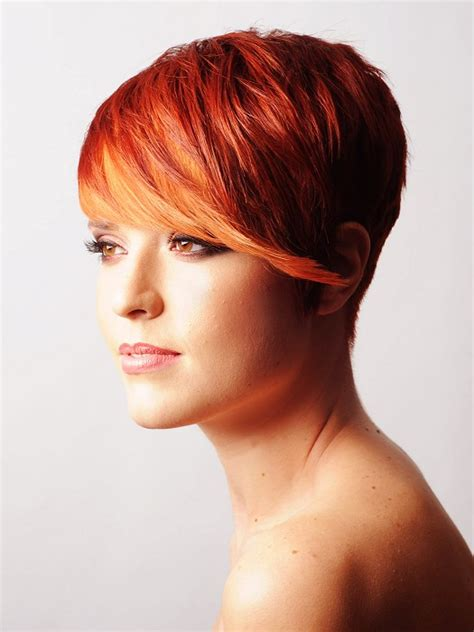 short red hairstyles for women elle hairstyles