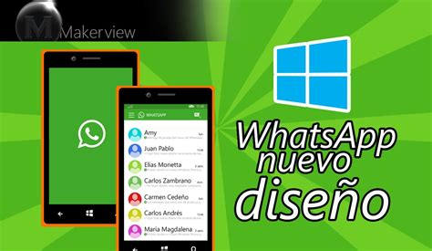 windows 10 mobile whatsapp nuevo dise 241 o concept