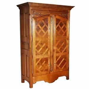 armoire malouine style louis xiii louis xiv ateliers With meuble louis xiii