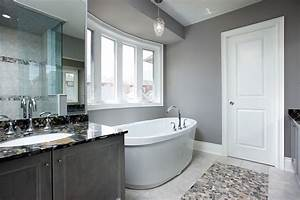 gray bathroom contemporary bathroom toronto by With kitchen cabinet trends 2018 combined with thy will be done wall art
