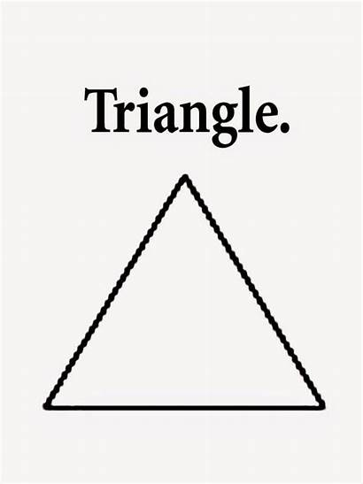 Triangle Printable Worksheets Preschoolers Coloring Pages Oval