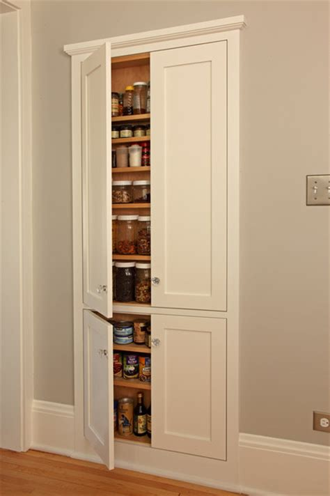 recessed in wall kitchen pantry cabinet 100 square foot kitchen remodel craftsman kitchen