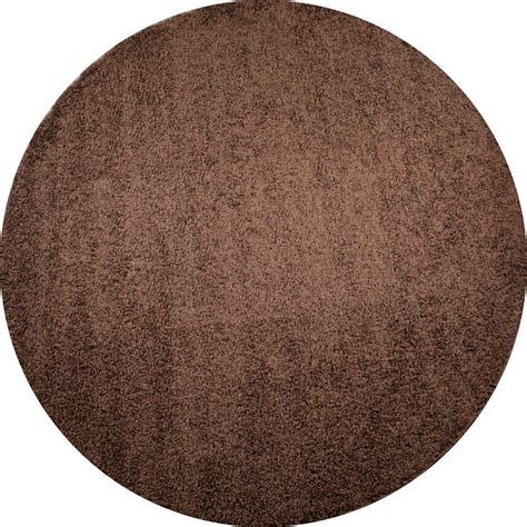 Plain Area Rug by Concord Global Trading Shaggy Plain Brown 6 Ft 7 In