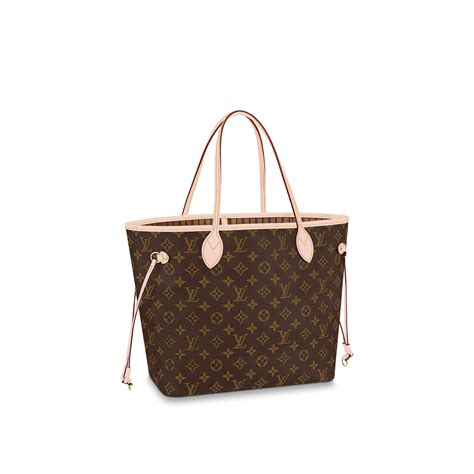 neverfull mm louis vuitton monogram handbag  women