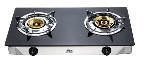kitchen gas stove table gas stove table top glass top burner black