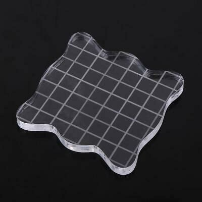 clear block scale acrylic pad transparent stamp photo