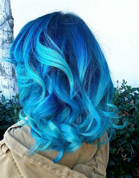 21 Bold And Beautiful Blue Ombre Hair Color Ideas Page 2