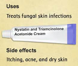 Nystatin and triamcinolone acetonide cream is a combination drug that ... Nystatin and Triamcinolone