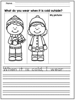winter writing prompts  kindergarten   grade