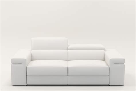canape cuir blanc deco in canape 2 places en cuir blanc can