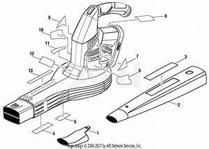 Homelite P2107 18 Volt Hybrid Blower Parts Diagram For