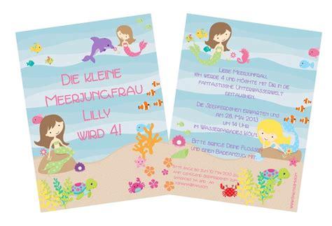 einladungskarten meerjungfrau mimmy wwwcartissimicom