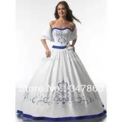 royal blue and white wedding dresses popular white and royal blue wedding dresses buy cheap white and royal blue wedding dresses lots