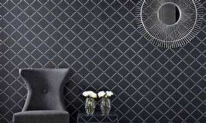 Papier Peint Noir Et Doré : craquez pour le papier peint noir et le papier peint noir motifs ~ Melissatoandfro.com Idées de Décoration