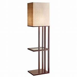 modern floor lamps briar shelf floor lamp eurway With floor lamp with 3 shelves