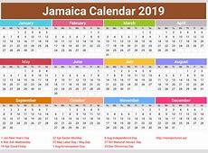 annual Jamaica Calendar 2018 printcalendarxyz