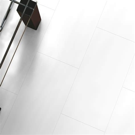 Falsetto White Tile Effect Laminate Flooring 2 m² Pack