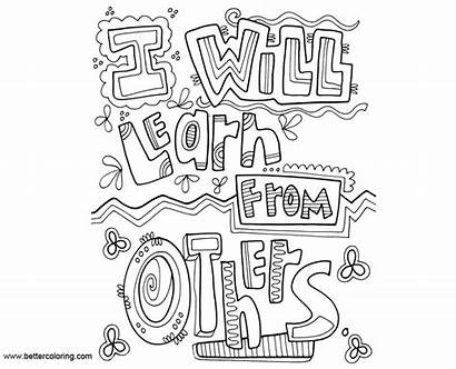 Mindset Growth Coloring Pages Others Learn Printable