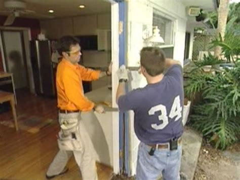 remove  replace exterior french doors  tos