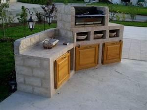 plan de travail exterieur en siporex cool construire un With barbecue beton cellulaire exterieur