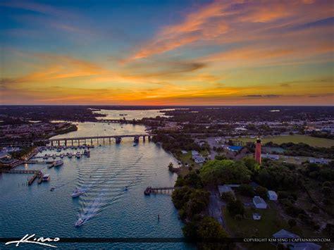 sunset jupiter lighthouse  waterway