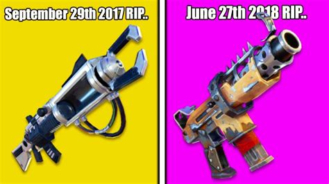 fortnite vaulted weapons  youtube