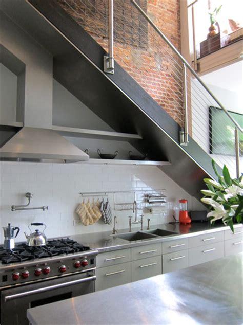 space saving  stairs kitchens