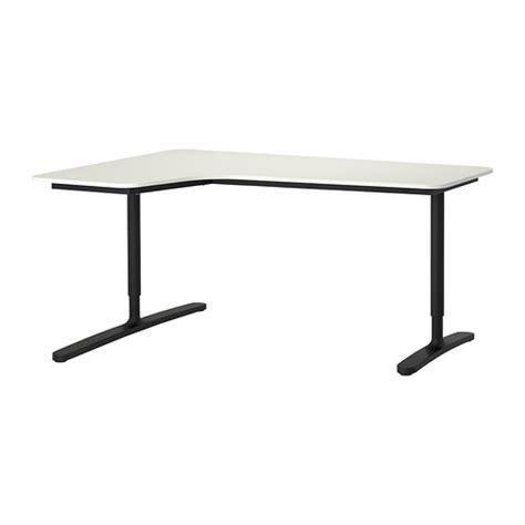 bekant corner desk left white black ikea