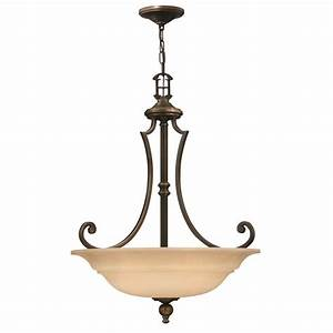 Uplighter ceiling pendant in traditional oil rubbed bronze