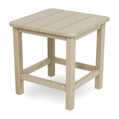 small plastic outdoor table outdoor small square side or end table polywood seashell