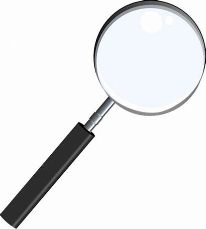 Glass Magnifying Clip Clker Vector