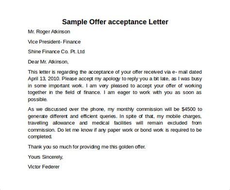 sle offer acceptance letter 9 download free accepting offer letter sle tolg jcmanagement co