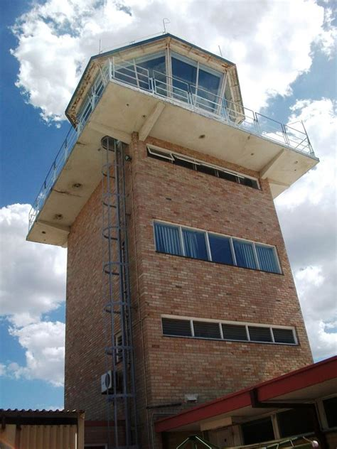 perth airport  control tower fire station tower