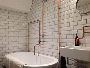 exposed copper pipe in bathrooms kitchens the plumbette With exposed bathroom plumbing
