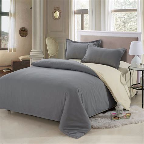 4pcs Solid Color Bedding Set Duvet Cover Sets Bed Linen