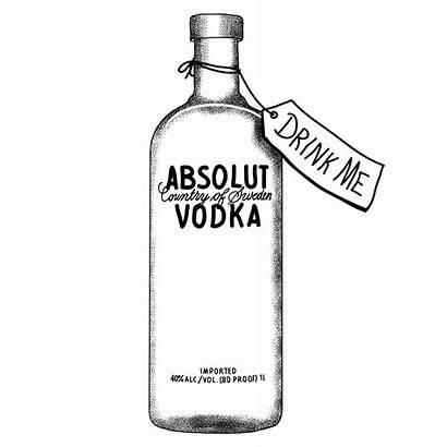 Vodka Bottle Drawing Liquor Alcohol Drawings Line