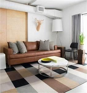 Ikea Tapis Salon : ikea salon coussins table basse ronde lampe sol tapis ~ Premium-room.com Idées de Décoration