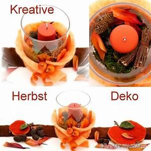 Herbst Tischdeko Natur : tischdeko herbst selber machen in glasvase mit wollband kerze und nat ~ Bigdaddyawards.com Haus und Dekorationen