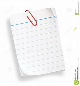 White Lined Paper Royalty Free Stock Photos - Image: 1709398